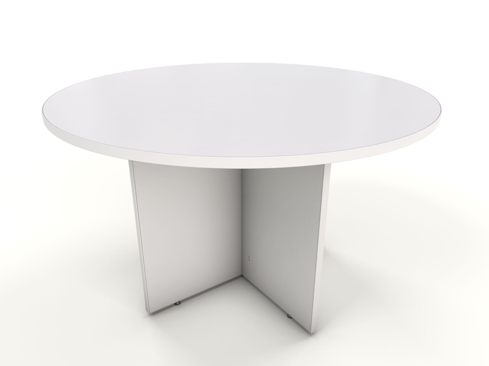 White round meeting table icarus office furniture for Off white round table