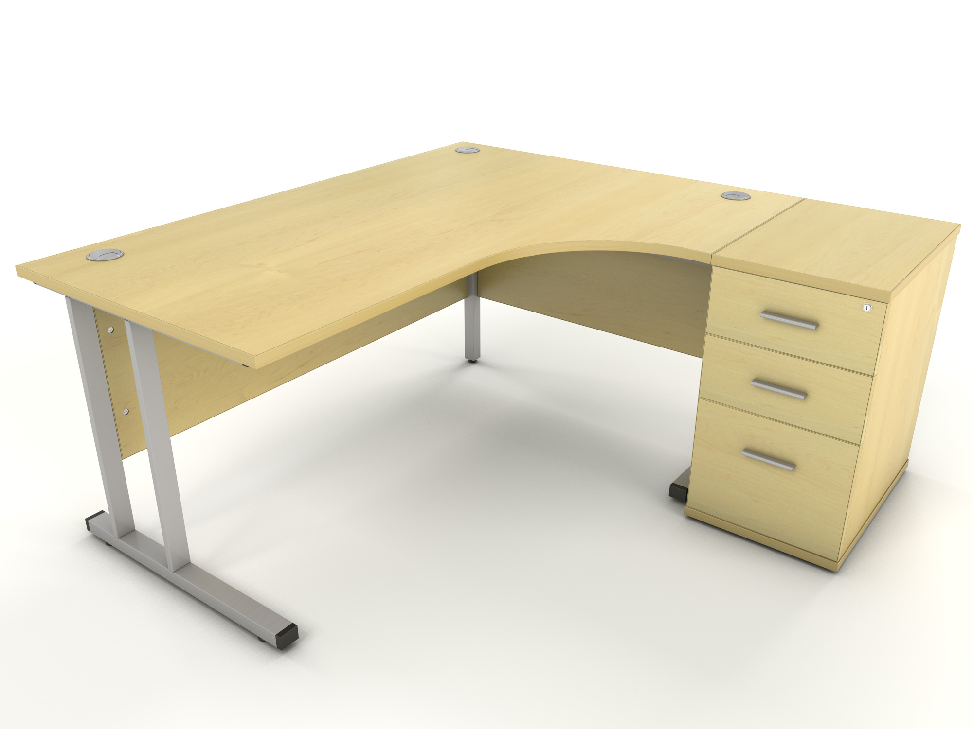 Maple corner desk icarus office furniture for Desks for home use