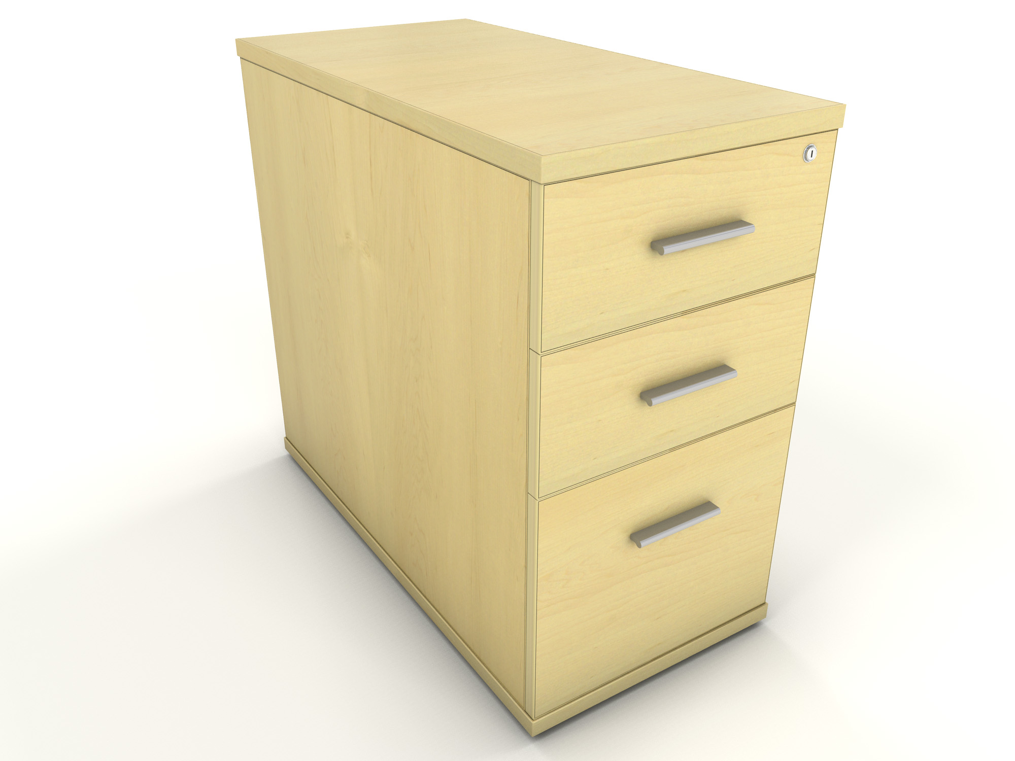 Maple Desk High Drawer Unit