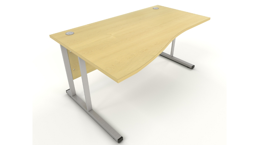 Maple Wave Desk