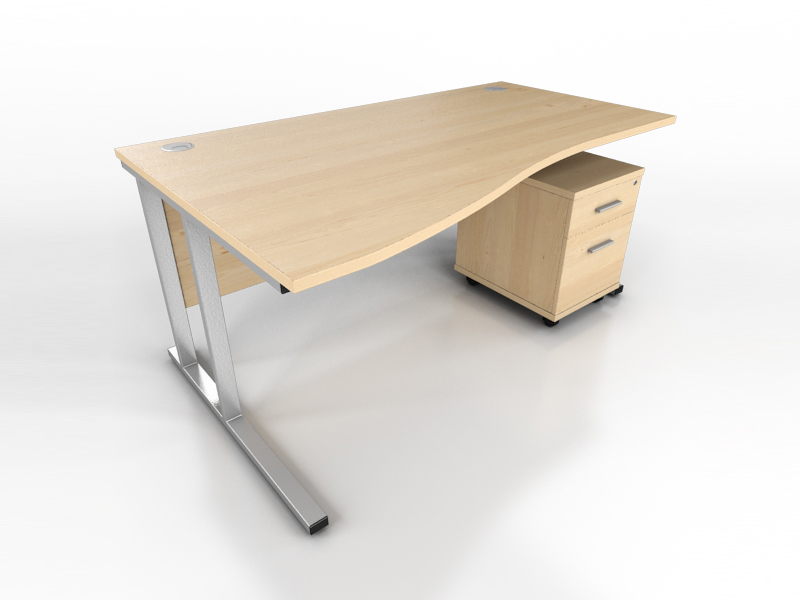 Maple Wave Desk Icarus Office Furniture