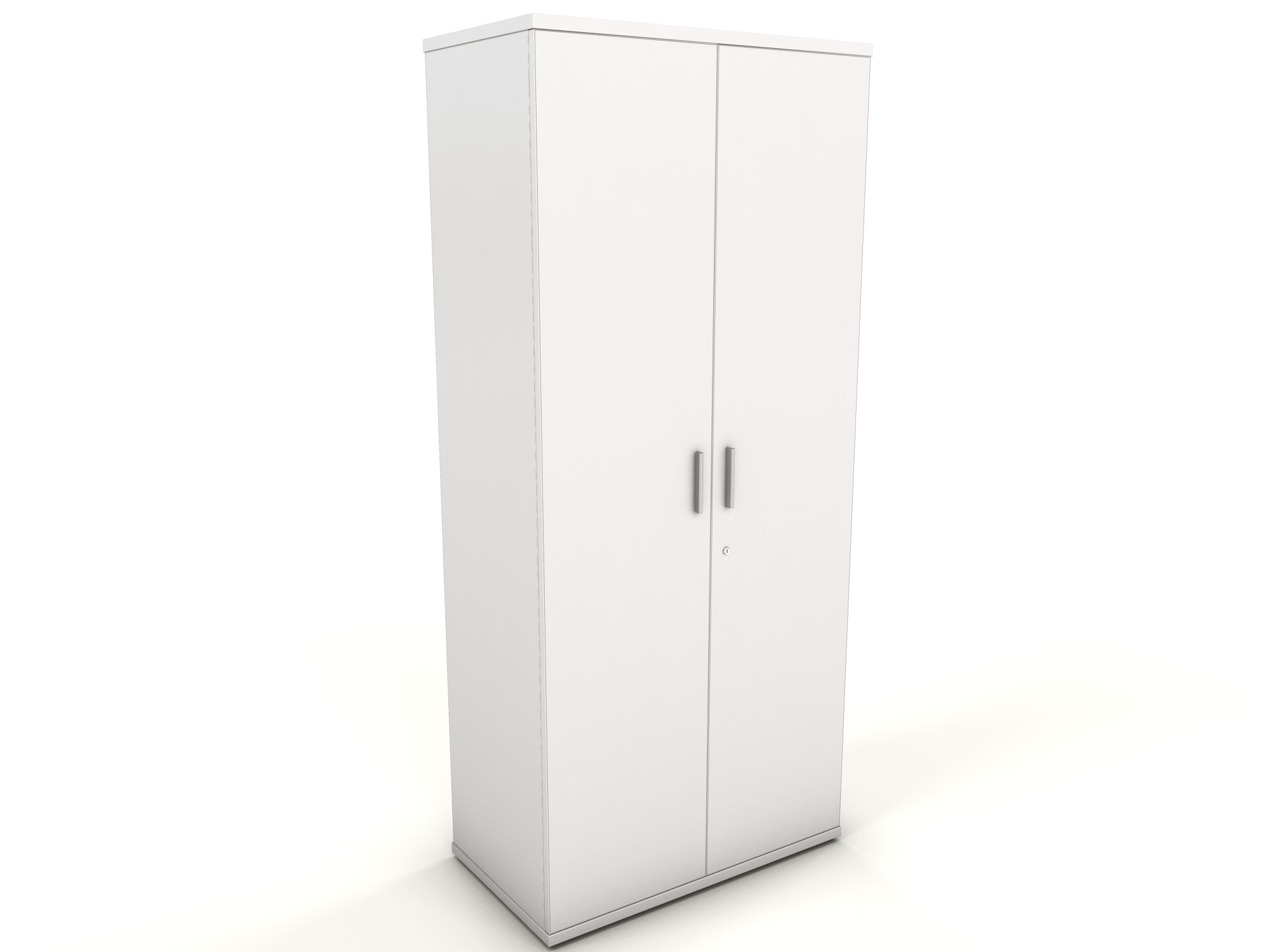 White office storage cupboard icarus office furniture for Storage in cupboards
