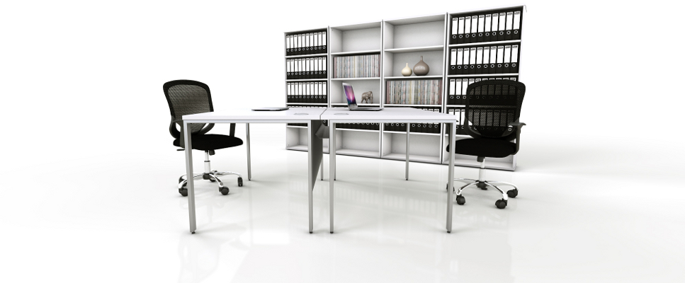 White Office Furniture Range - Black 2