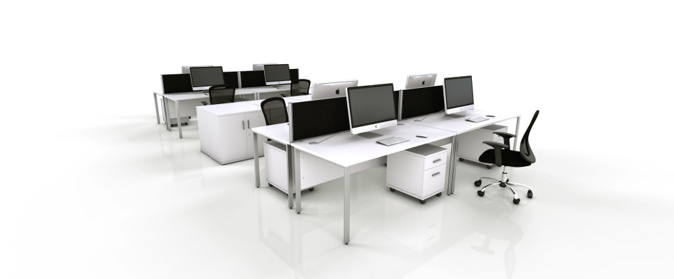 White Office Furniture Range - Black