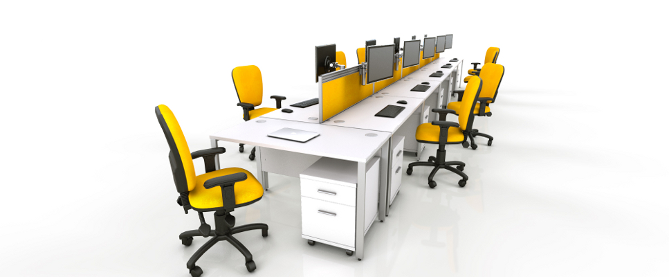 White Office Furniture Range - Yellow