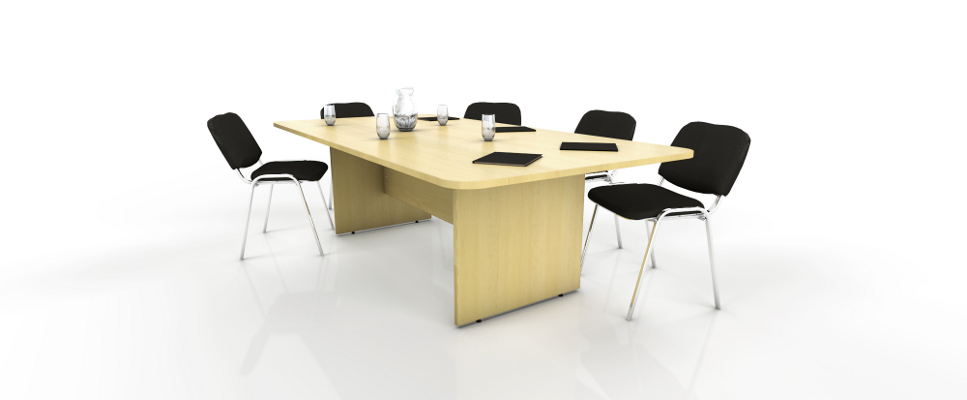 maple rectangular meeting table