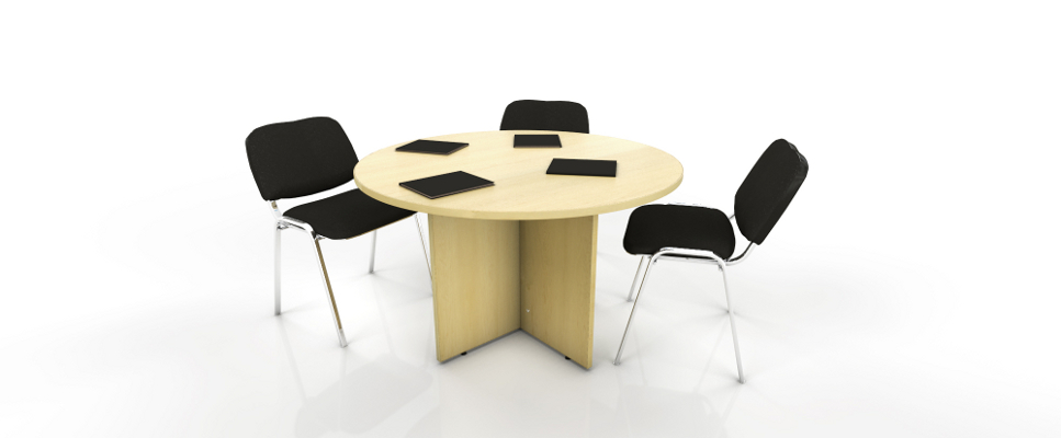 maple round meeting table