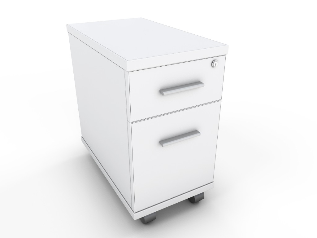 Narrow Pedestal : White Narrow Under Desk Mobile Pedestal Icarus Office Furniture