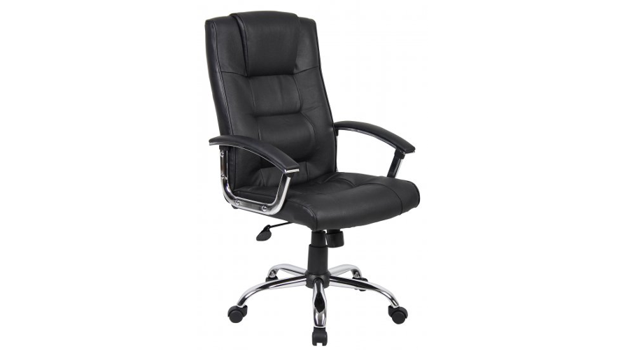 Office Chairs Black Leather Swivel Chair Icarus Office Furniture - Computer chair uk