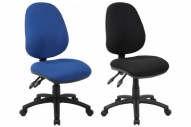 blue & black computer chairs
