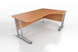 1800mm Beech Radial Desk