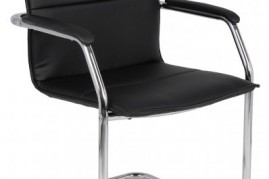 Black Leather Cantilever Chair
